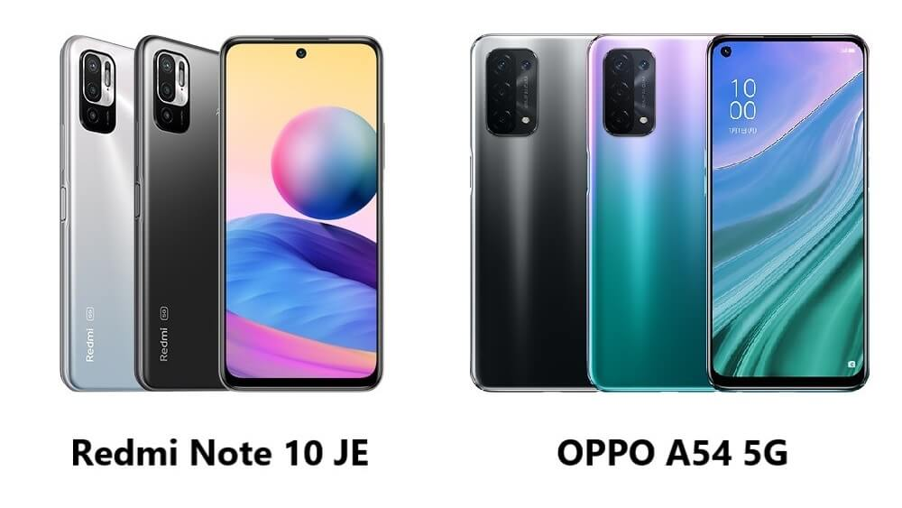 Redmi Note 10 JEとOPPO A54 5Gの違い