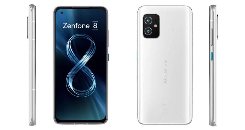 Zenfone 8のホワイト